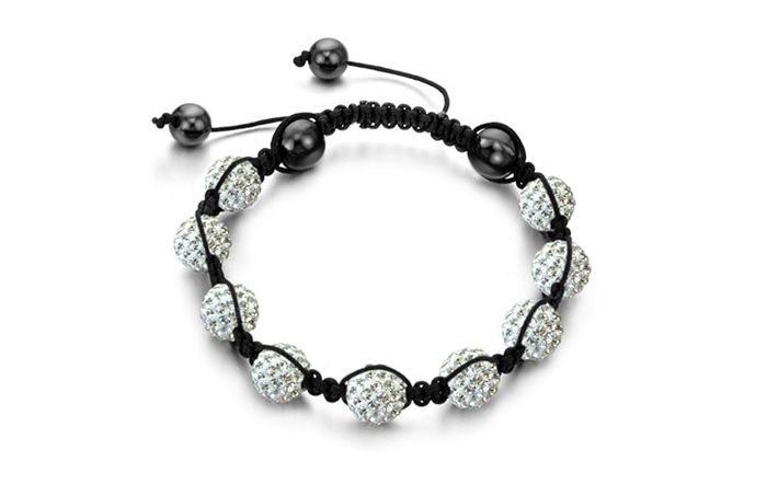 New Arrival Graceful Rhinestoned Beads Women's Braided Bracelet