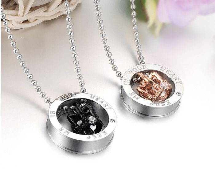 High Quality Stunning Style Crown Shape Necklace For Lovers