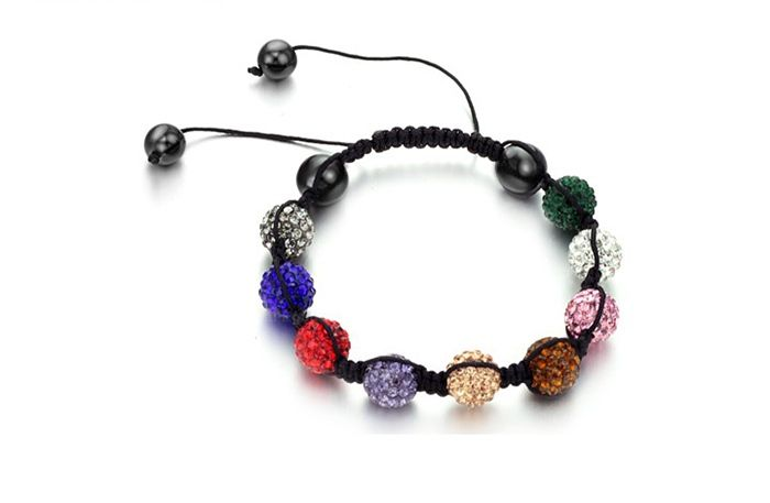 Korea Graceful Style Rhinestoned Beads Design Women's Braided Bracelet