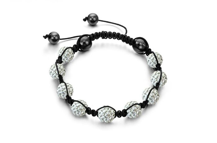 Fashion Elegant Style Rhinestoned Beads Women's Braided Bracelet