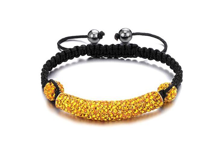 Fashion Casual Style Rhinestone Embellished Women's Braided Bracelet