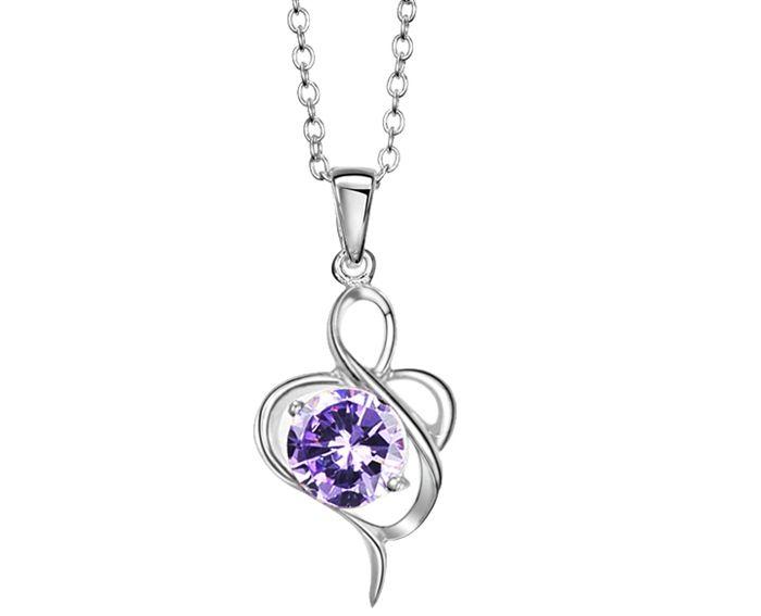 Elegant Style Twisty Flower Shape Rhinestone Inlaid Pendant Necklace For Women