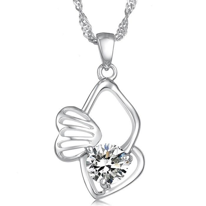 Exquisite Gorgeous Style Rhinestone Decorated Multi-Layered Heart Shape Necklace For Women