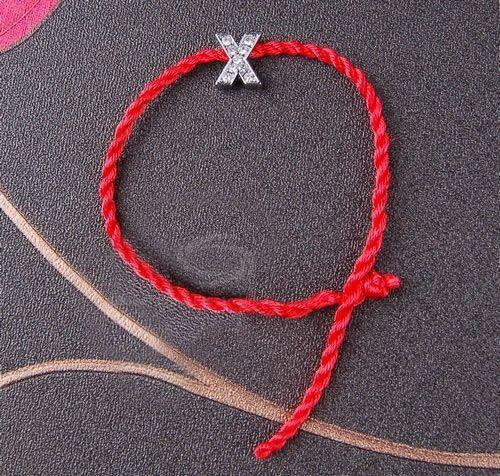 Stylish Exquisite Style Plaited Shape Letter Pendant Embellished Bracelet For Women/Men