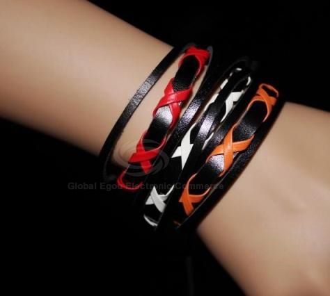 Retro Style Candy Color Cross Design Muti-layered PU Leather Bracelet