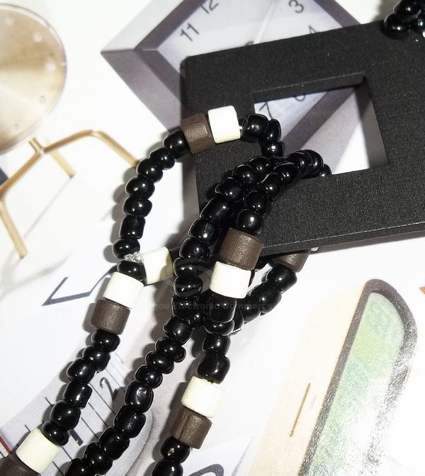 Sweet Graceful Style Square Embellished Women's Beads Sweater Chain