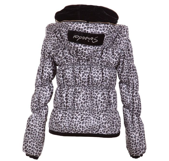 Stylish Hooded Double Collar Leopard Print Long Sleeves Warm And Thicken Cotton Blend Women's Padded Coat