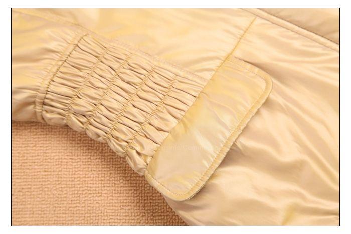 Fashionable Ruffle Slimming Long Sleeve Hooded Women's Wadded Coat