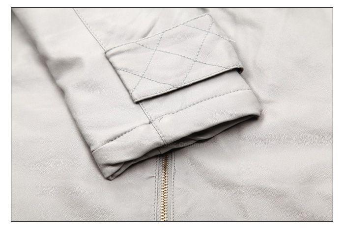 Modern Style Scoop Neck Hooded High Waist Long Sleeve Faux Leather Women's Coat