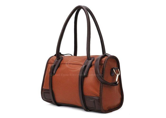 Casual Vintage Color Matching Belts Zipper Design Women's Shoulder Bag