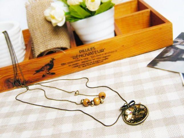 Sweet Elegant Style Bowknot Shape Women's Sweater Chain Necklace