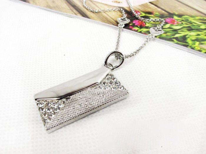 Chic Sweet Style Rhinestoned Letter Shape Embellished Women's Necklace