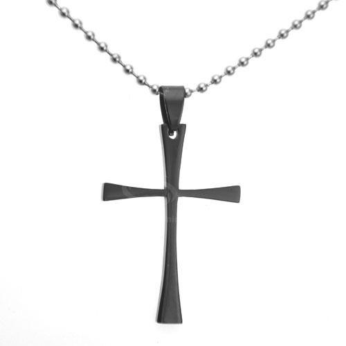 Fashion Simple Design Cross Shape Embellished Men's Pendant