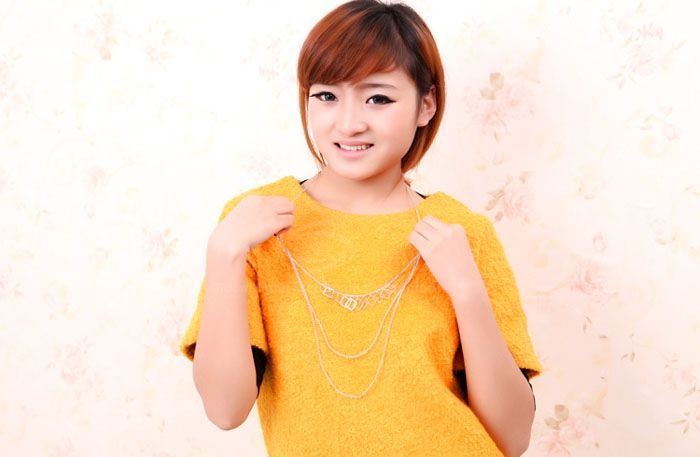 Chic Vintage Multi-Layered Simple Design Women's Sweater Chain Necklace