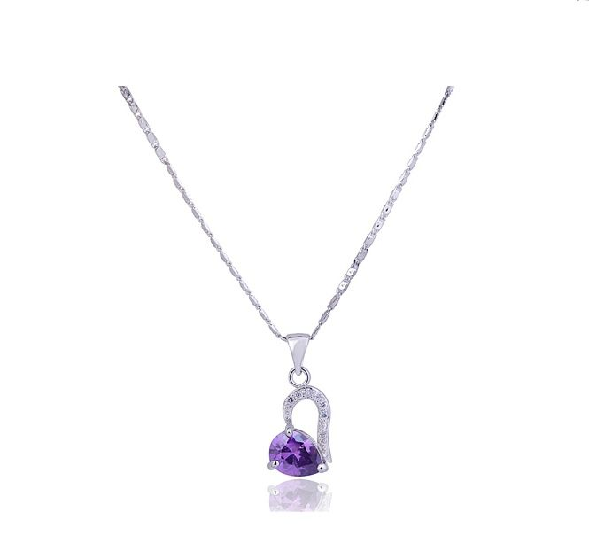 Gorgeous Elegant Style Rhinestone Embellished Heart Shape Women's Necklace
