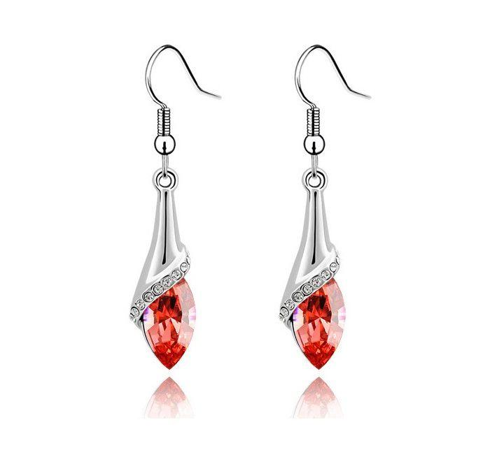 Waterdrop Rhinestone Embellished Earrings