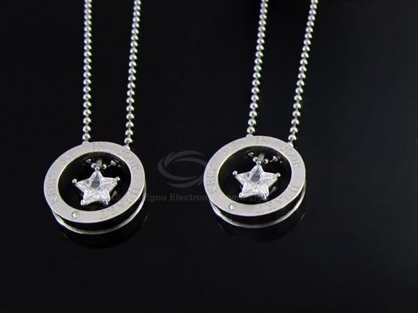 Corean Fashion Style Five-Point Star Shape Rhinestone Inlaid Small-Sized Women's Necklace