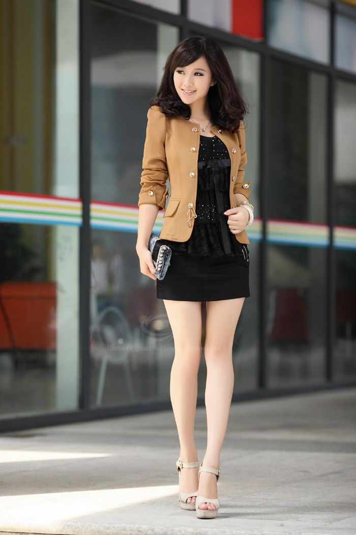 Elegant Solid Color Bowknot Embellished Cotton Blend Women's Blazers