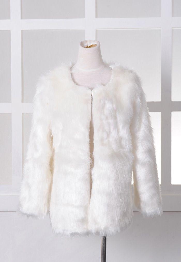 Luxurious Style Cardigans Design Villus Women's Coat