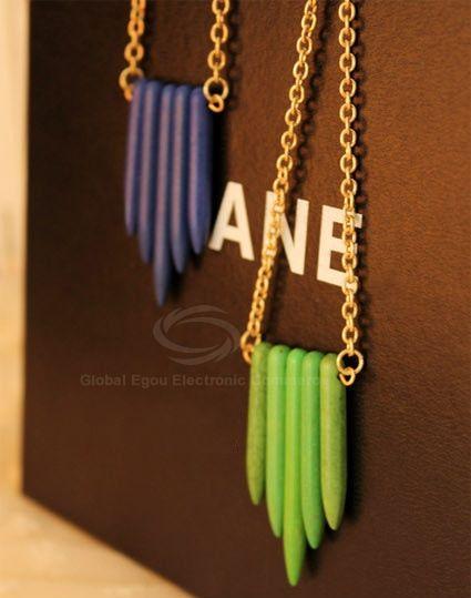 Wood Bullet Alloy Pendant Necklace