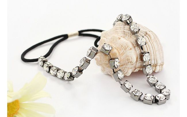 Elegant Style Shining Rhinestone Embellished Women's Hair Band
