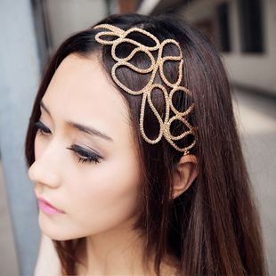 Fashionable Openwork Alloy Knitted Women's Hair Band