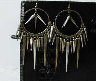 Rivet Tassels Drop Earrings