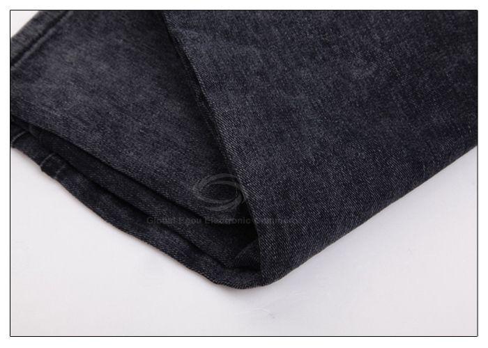 Casual Mouth Shape Buttons Jeans Women's Pants