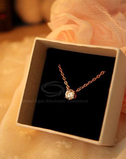 Ball Shape Rhinestone Pendant Necklace