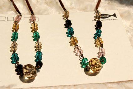 Elegant Colorful Rhinestone Embellished Women's Beads Necklace