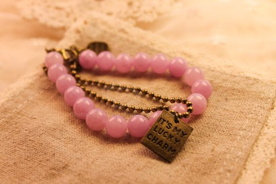 Faux Gemstone Embellished Engraved Bracelet
