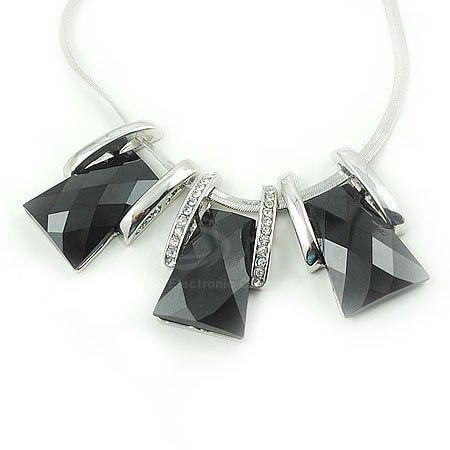 Vintage Artificial Gemstone and Rhinestone Embellished Women's Short Necklace