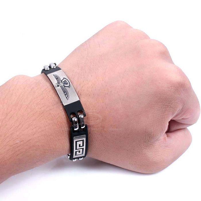 Tercel Embellished Alloy Steel Fastener Bracelet