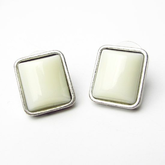 Pair of Rectangle Alloy Stud Earrings