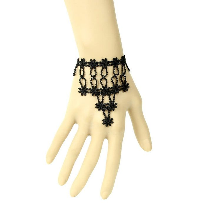 Vintage Lace Embellished Flower Bracelet