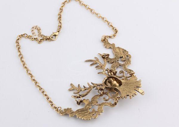 Retro Alloy Elk Shape Necklace