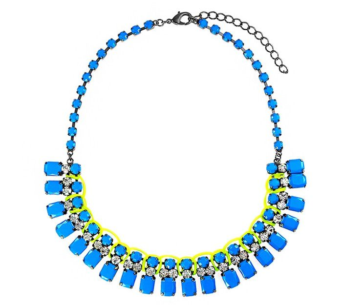 Faux Gem DesignRhinestoned Choker Necklace