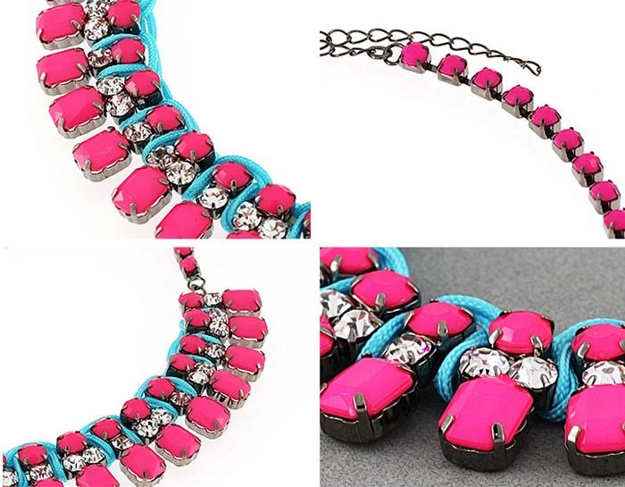 Faux Gem DesignRhinestoned Choker Necklace