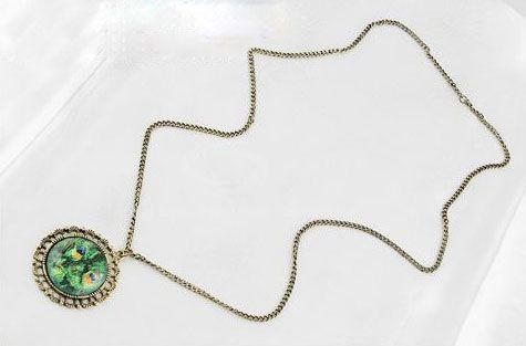 Chic Style Magic Print Alloy Mirror Shape Women's Pendant Necklace