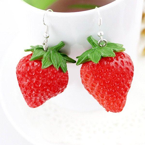 Pair of Ethnic Strawberry Shape Earrings