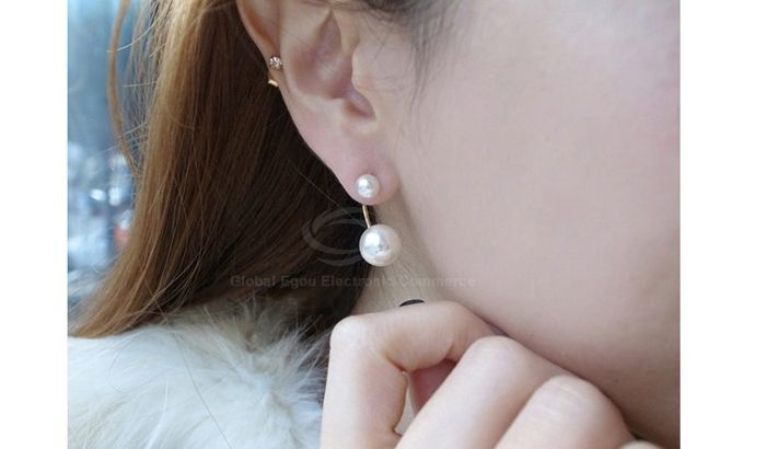 Pair of Faux Pearl Alloy Earrings