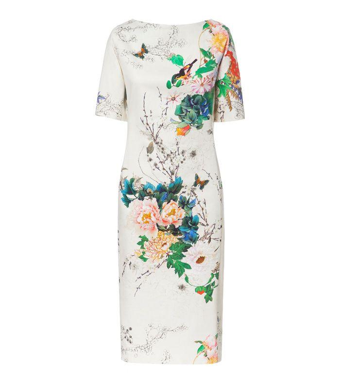 Boat Neck Short Sleeves Animal Print Polyester Retro Style Women's Dress