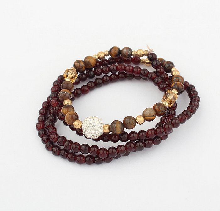 Vintage Ethnic Style Multi-Layered Women's Beading Bracelet