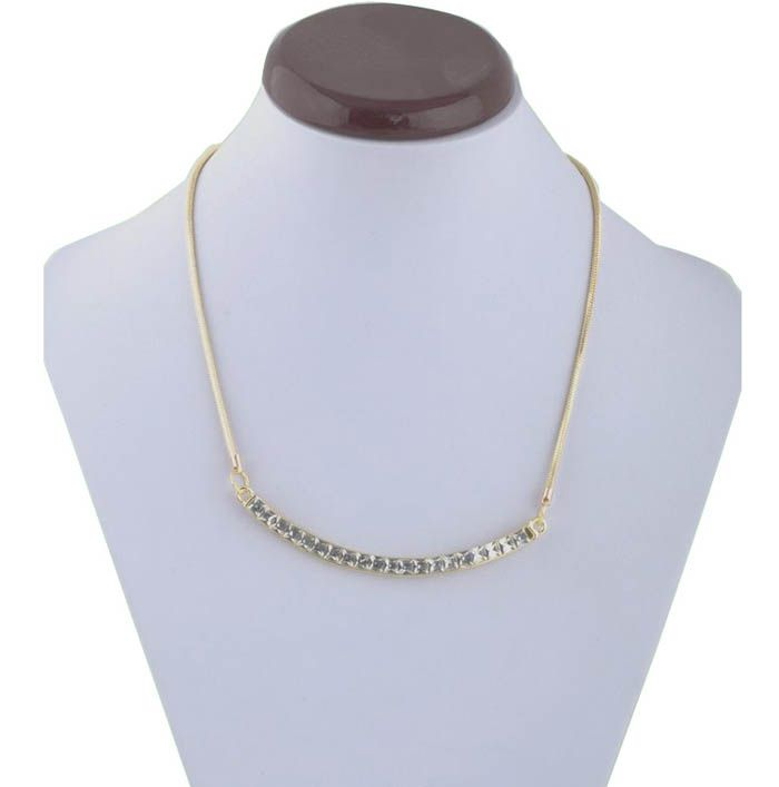 Chic Style Crystals Embellished Women's Camber Pendant Necklace