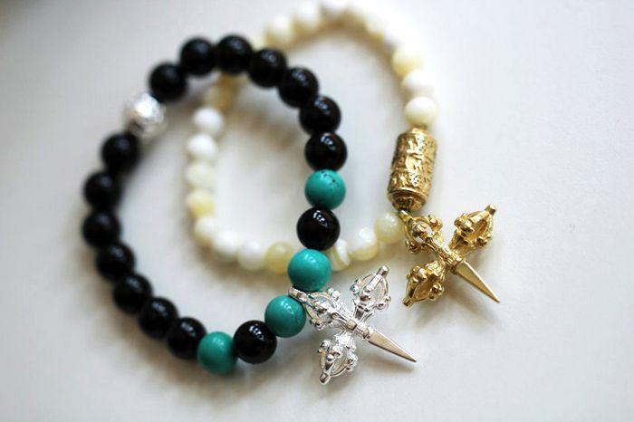 Cross Beads Charm Bracelet