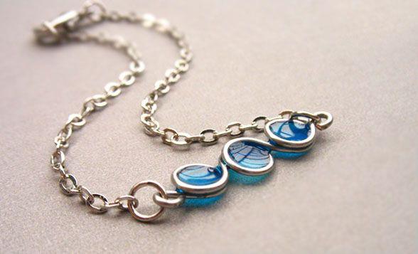 Bubble Embellished Alloy Chain Bracelet