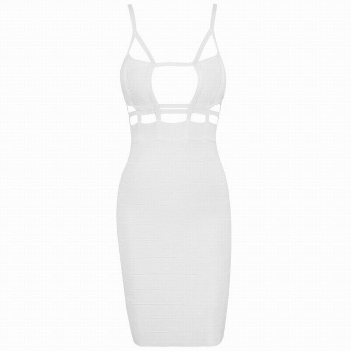 Cut Out Slip Bandage Cage Mini Club Dress