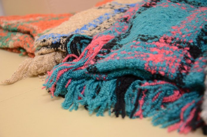 Stylish Tassel Decorated Multi-Colored Scarf For Women