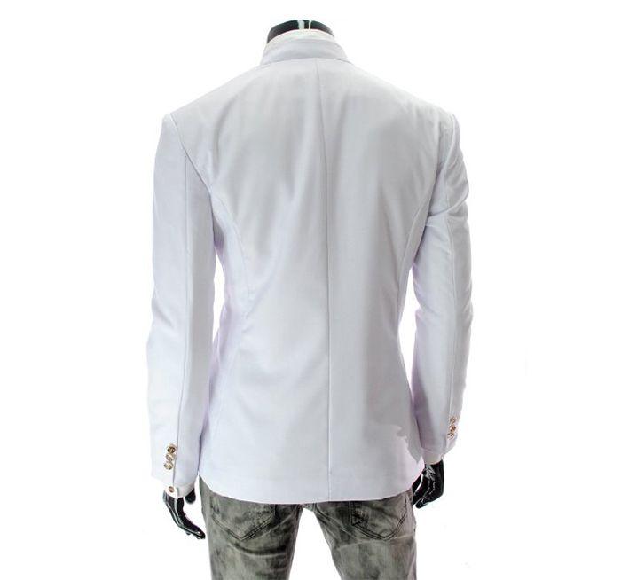 Korean Fashionable Style Asymmetric Design Slimming Two Button Blazer For Men
