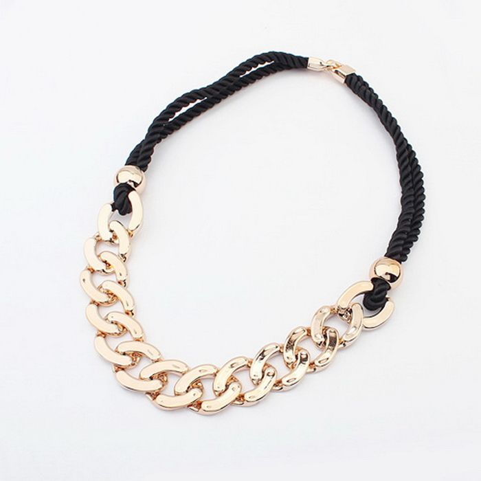 Fashion Punk Thick Chain Pendant Sweater Chain Necklace For Women